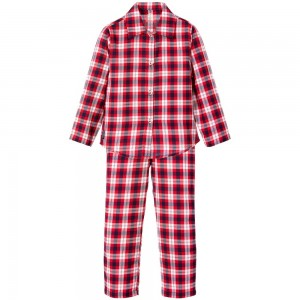 TIMBERLAND Boys Red Check Cotton Pyjamas