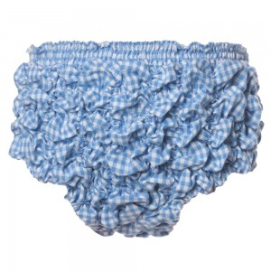 TURQUAZ Baby Girls Blue Gingham Ruffle Shorts