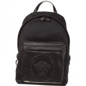 YOUNG VERSACE Black Neoprene Backpack