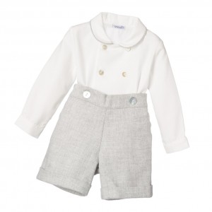ANCAR Boys Traditional Grey Buster Suit