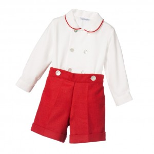 ANCAR Boys Traditional Red Buster Suit