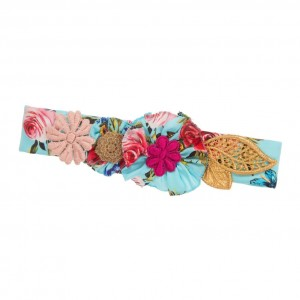 DOLCE & GABBANA Baby Girls Blue Silk Headband