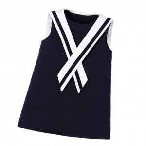 DOLCE & GABBANA Baby Girls Navy Blue Sailor Dress