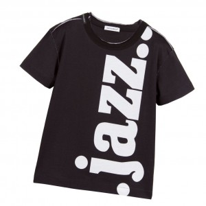 DOLCE & GABBANA Boys Black Jazz T-Shirt