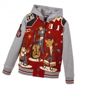 DOLCE & GABBANA Boys Grey & Red 'Jazz' Jacket