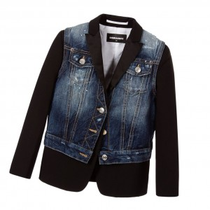 DSQUARED2 Boys Black Wool Blazer