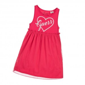 GUESS Girls Pink Cotton Jersey Dress