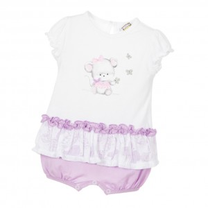 IDO MINI Baby Girls Lilac Shortie With Mouse