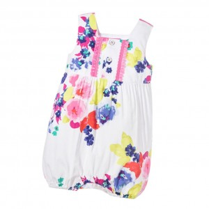 JOULES Baby Girls Shortie with 'Ocean Bloom' Print