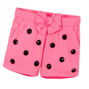 LITTLE MARC JACOBS Girls Pink Shorts with Black Gems