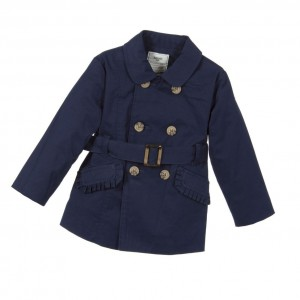 MAYORAL Baby Girls Navy Blue Trench Coat