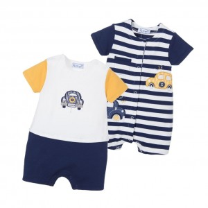 MAYORAL NEWBORN Baby Boys Blue Shorties (Pack of 2)