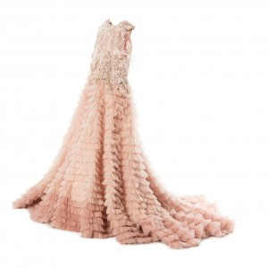 MISCHKA AOKI Girls Peachy Coral Tulle 'Fairy Queen' Dress