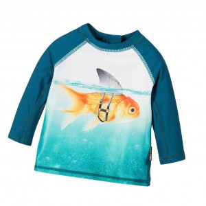MOLO Baby Boys Turquoise Sun Protective Top (UPF40+)