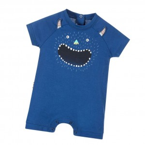 PAUL SMITH JUNIOR Baby Boys Blue Glow In The Dark 'Narrison' Shortie