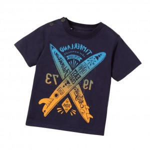 TIMBERLAND Boys Blue Surf Board T-shirt